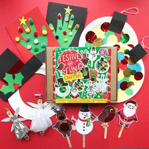 Personalised 'Festive And Fun' Christmas Craft Kit - decoration making kits