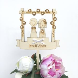 Personalised Wedding Couple Cake Topper - table decorations