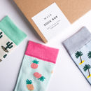 Unisex Tropical Sock Gift Box