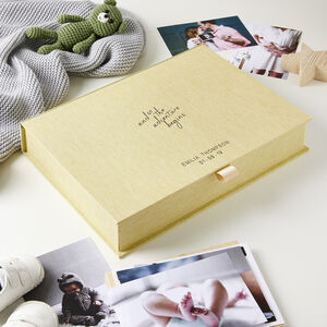 Personalised Adventure Begins New Baby Keepsake Box