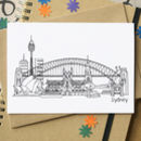 Sydney Australia Skyline Greetings Card