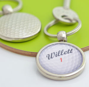 Personalised Golf Ball Keyring - new in home
