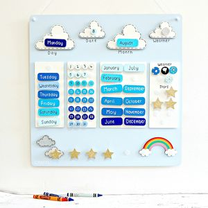 Wooden Reward Chart Calendar