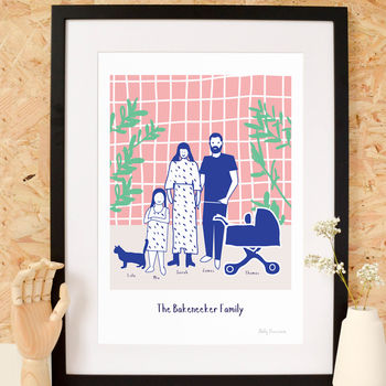 Personalised Family In The Home Print