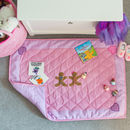 Children's Gingerbread Pink Floor And Play Mat