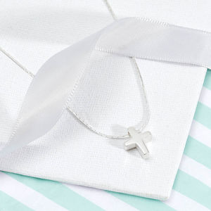 Sterling Silver Christening Cross Necklace - jewellery gifts for children