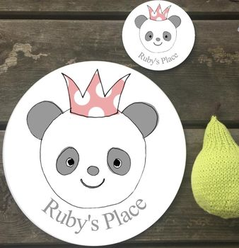 Personalised Party Animal Placemat