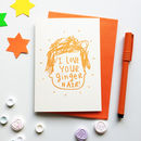 I Love Your Ginger Hair Valentines Card
