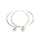 Large Daisy Hoop Earrings