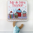 Personalised Mr And Mrs Tea Towel Hook