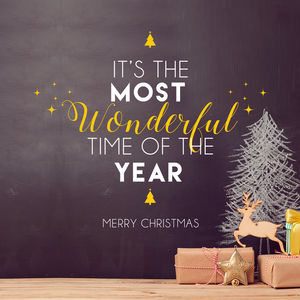 Wonderful Time Of The Year Christmas Wall Decal Sticker