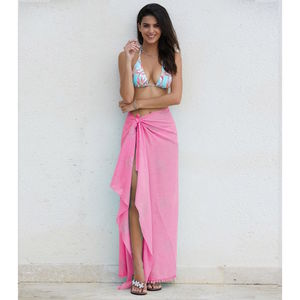 Pink Kiki Sun Cotton Sarong - swimwear & beachwear