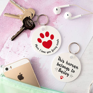 Personalised 'Pet Mum' Animal Lover Keyring - keyrings