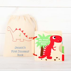My First Dinosaur Picture Book And Personalised Bag - whatsnew
