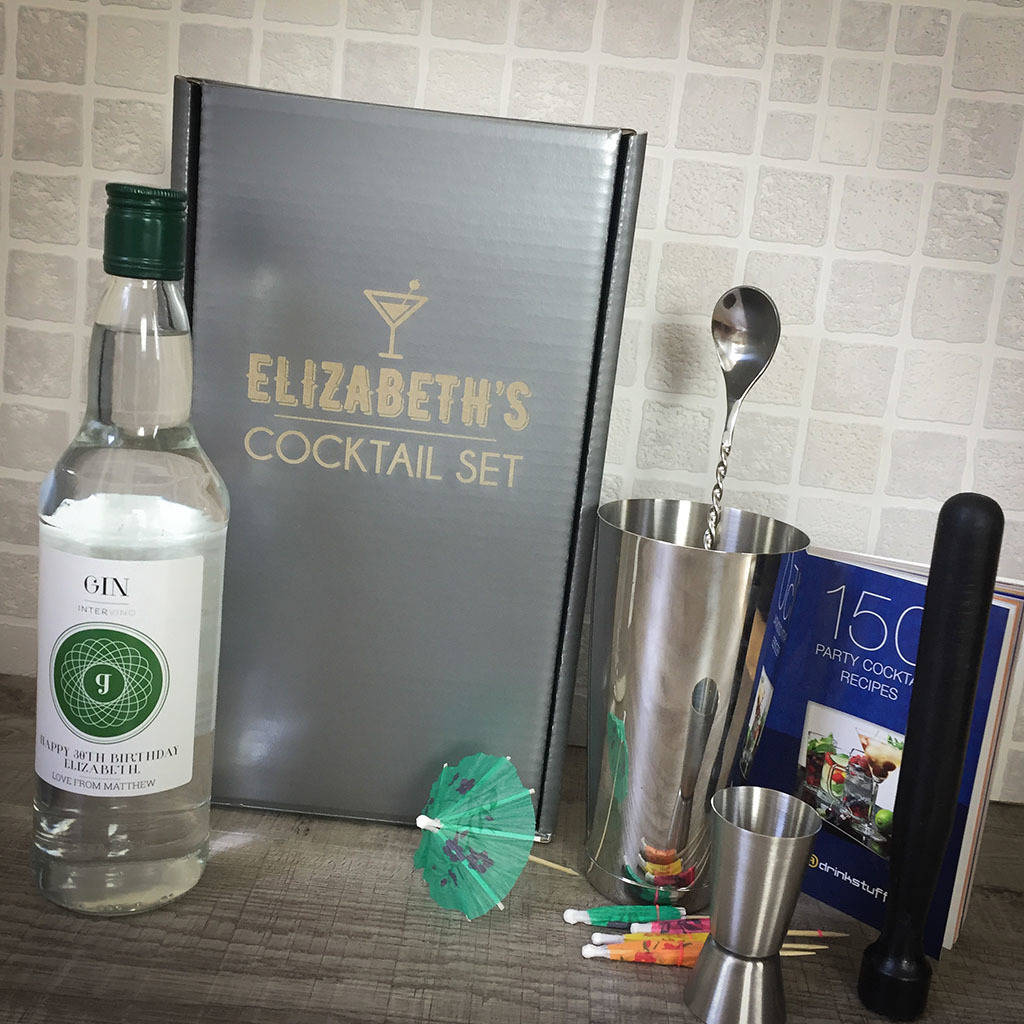 Personalised Gin And Cocktail Set