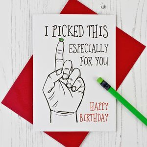 Especially Picked For You Birthday Card