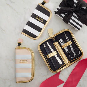 'Nailed It' Gold Edged Manicure Set - more