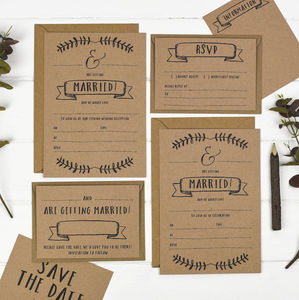 Kraft Write Your Own Wedding Invitation Set - invitations