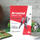 Personalised Arsenal Football Programme