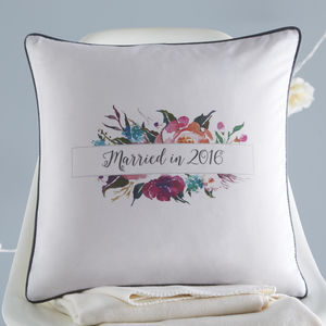 Married In 2016 Cushion - living room