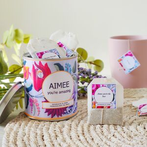 Design Your Own Tea Bags With Keepsake Tin