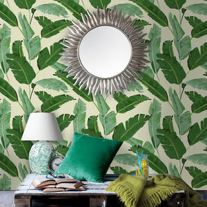 Banana Leaves Wallpaper - bedroom
