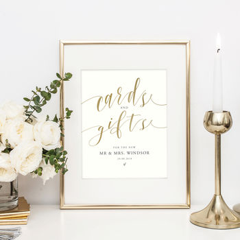 Personalised Wedding Table Sign | Cards And Gifts