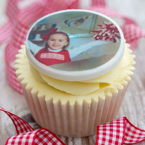 Personalised Photo Cupcake Toppers - kitchen