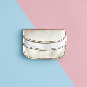 Scallop Leather Purse