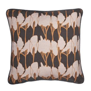 Tree Geometric Linen Piped Cushion Six Colours