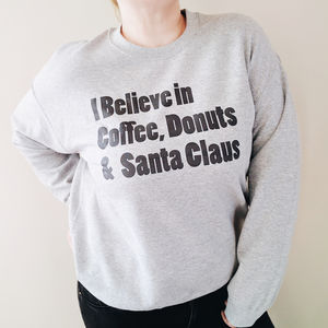 I Believe In… Christmas Jumper - women's fashion