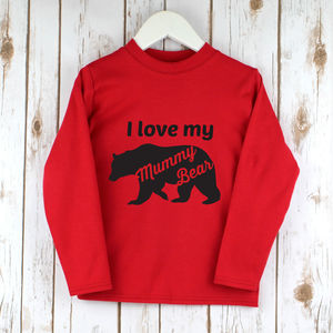 Children's Mother's Day Bear T Shirt - clothing