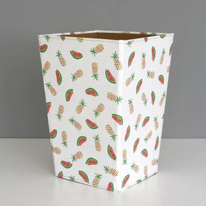 Recycled Pineapple And Watermelon Waste Paper Bin Large - wastepaper bins