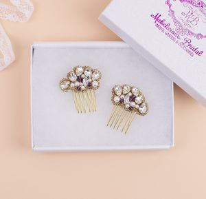 Bridal Hair Combs New 'Cecilia' Handbeaded Hair Combs