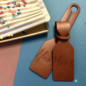 Leather Couple Luggage Tags