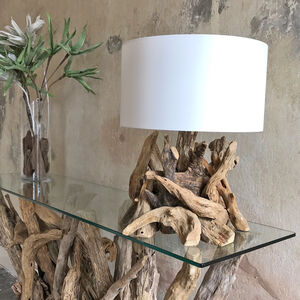 'Stumpy Driftwood Table Lamp