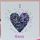 I Love Nana Butterfly Card/ We Love Nana Card