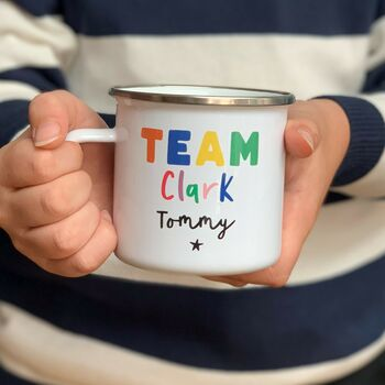 Team Personalised Rainbow Mug Set