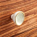 Ceramic Crackled Concave Gold Cupboard Door Knobs