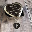 Personalised Silver Heart Diamonte Trinket Box