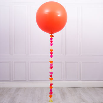 Flamingo Pink Giant Heart Tail Balloon