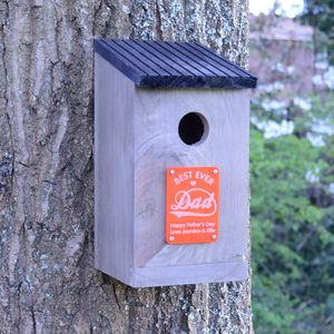 Personalised Dad Brown Wooden Bird House - personalised gifts for dads