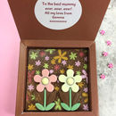 Personalised Message Milk Chocolate With Summer Daisies