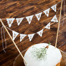 personalised wedding cake topper bunting