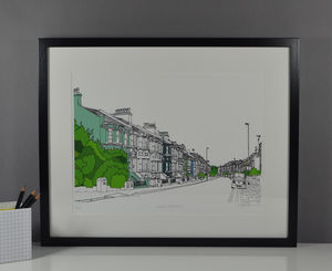 Brighton Queen's Park Road Print
