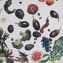 Miniature Vegetable Painting With Avocado And Aubergine