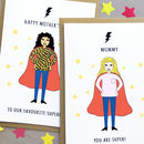 Personalised Superwoman Birthday Card