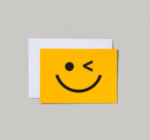 Wink Smiley Face Card