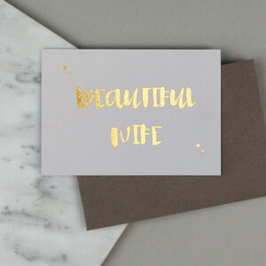 'Beautiful' Wife Card