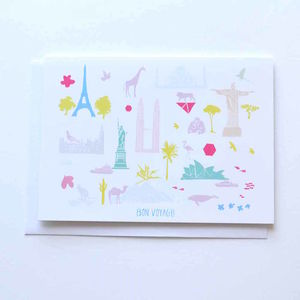 Bon Voyage Good Luck Travel Adventure Moving Card - good luck cards